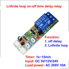 qianson dc 5v 12v 24v infinite cycle delay timing timer relay on
