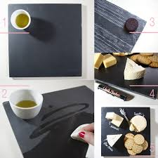 chalkboard cheese plate diy slate cheeseboard sugar cloth