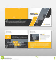 yellow abstract vector brochure annual report leaflet flyer