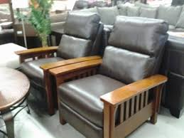 mission style recliner chatham collection tan recliner vintage