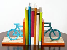 crackled floral bicycle diy bookends mod podge rocks