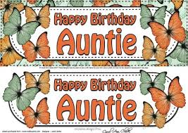 large dl birthday auntie butterflies 3d decoupage by carol