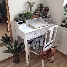 Small Desk Plants by Boho Books Brown Desk Green Plants White Study Area
