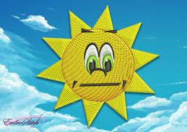 sun machine embroidery designs
