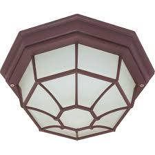 Dusk To Dawn Outdoor Ceiling Light by Glomar Wall Ceiling 2 Light Outdoor Architectural Bronze