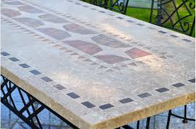 Marble Patio Table 94 Outdoor Patio Dining Table Mosaic Marble Top
