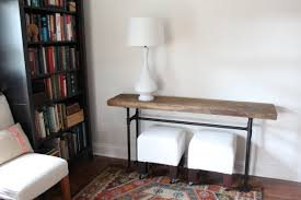 Restoration Hardware Console Table by Diy Black Pipe Console Table Handmaidtales