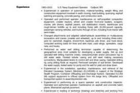 Sample Resume For Heavy Equipment Operator by Radiation Protection Technician Resume Chemical Resume Reentrycorps