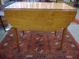 Maple Drop Leaf Table Tiger Maple Drop Leaf Table Sale Number 2858t Lot Number 1154