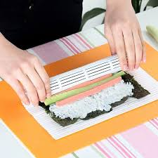 materiel cuisine japonais diy sushi rouleau kit bambou matériel roulant tapis sushi maker