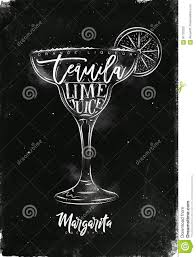 margarita drawing margarita cocktail chalk stock vector image 91720332