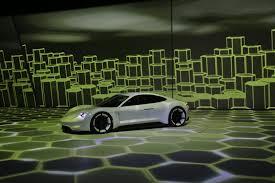 porsche mission e wallpaper porsche stuns frankfurt with all electric mission e sports sedan