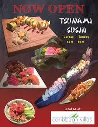sushi restaurant in belize tsunami sushi san pedro ambergris caye
