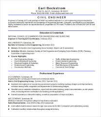 Civil Engineer Resume Template by Civil Engineering Resume Templates 16 Civil Engineer Resume