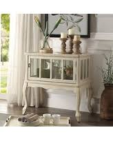 Antique White Console Table Get The Deal Acme Furniture Vermont Antique White Wood Console