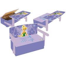 bureau coffre 3 en 1 coffre à jouets fée clochette achat vente coffre à jouets