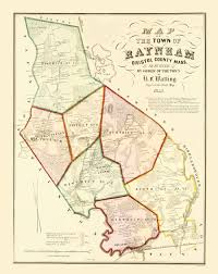 Ma Map Old City Map Raynham Massachusetts Walling 1855