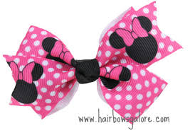 hair bow minnie mouse pinwheel