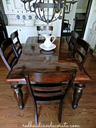 DIY Refinished Dining Table Redhead Can Decorate - Refinish dining room table