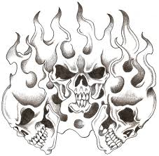 tribal flames and skull designs in 2017 photo pictures