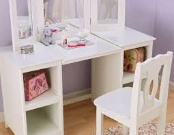 Dress Up Vanity Kidkraft Deluxe Vanity Chair White Makeup Table Pretend Play Girls