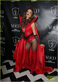 heaven hell halloween party alessandra ambrosio was a red devil on halloween photo