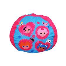 fluffy orange bean bag chair with round shape atlanta online