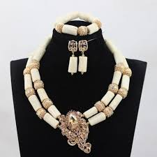 african jewelry necklace set images White coral african jewelry necklace set dukaiko jpg