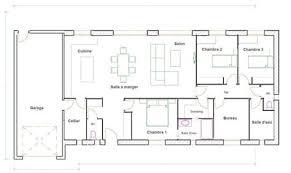 maison 3 chambres plain pied plan de maison 3 chambres plain pied finest plan de maison plain