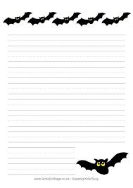 lined bat template halloween writing paper bats halloween