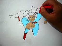 color picture superman mewarnai gambar