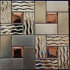 mosaic kitchen tile backsplash stainless steel tile backsplash ssmt269 kitchen mosaic glass wall