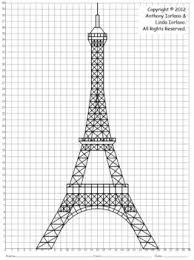 coordinate graph coordinate graphing eiffel tower landmark