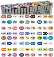 copic sketch marker set 12 color 72 color set d