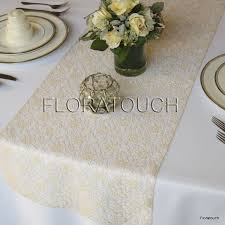 gold lace table runner chagne lace table runner wedding table runner by floratouch