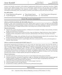 Resume Event Planning Spectacular Design Event Planning Resume 11 Event Planning Resume