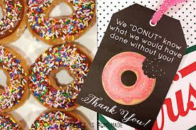what to give as a thank you gift free printable donut thank you gift tags happiness is