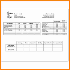 Pay Stub Template Excel 10 Independent Contractor Pay Stub Template Ledger Paper