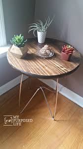 Wood Table With Metal Legs Metal Table Legs Make Diy Wooden Tables And Plant Stands My