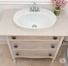 Dresser Turned Bathroom Vanity Refreshed Vintage Dresser Turned Bathroom Vanity Salvaged