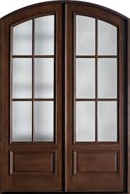 Exterior Wooden Doors With Glass by Front Door Custom Double Solid Wood With Walnut Finish