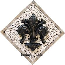 fleur de lis tile kitchen backsplash wall decor accent tiles