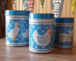 cow canister set etsy