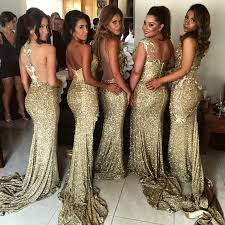 gold bridesmaid dress 5 styles sequins side slit mermaid lace gold bridesmaid gowns
