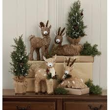 Christmas Deer Decorations Indoor by Roebuck U0026 Co Christmas Sisal Deer Light Brown Seasonal