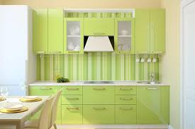 kitchen design home contemporary green kitchen design with glass table and chairs
