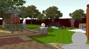 back yard design video with pergola fire pit patio treehouse