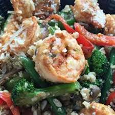 cuisine quinoa shrimp bowl with brown rice quinoa picture of bam healthy