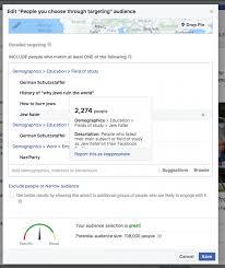 facebook enabled advertisers to reach u0027jew haters u0027