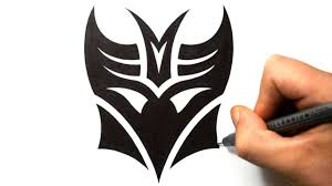 how to draw decepticon in a tribal tattoo design style youtube